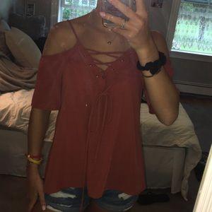 Cute off-the-shoulder shirt